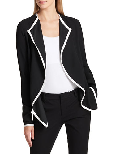 Dkny Draped Jacket-BLACK-Medium