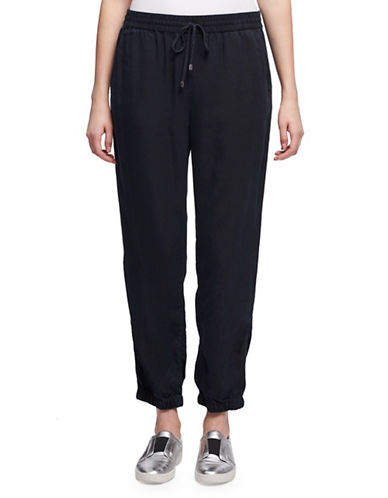 Dkny Cotton Chambray Jogger Pants-INDIGO-Small