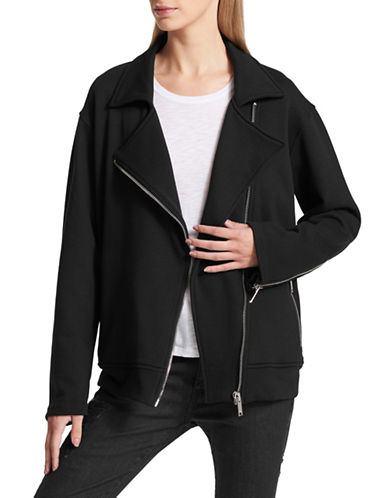 Dkny Crest Moto Jacket-BLACK-Medium