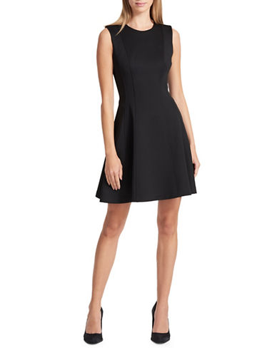 Dkny Sleeveless A-Line Dress-BLACK-X-Large