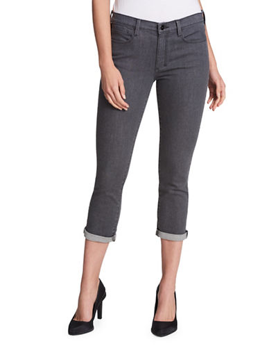 Dkny Cropped Skinny Jeans-GREY-27