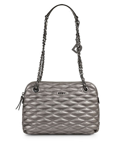 Dkny Quilted Crossbody Bag-PEWTER-One Size