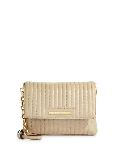 Donna Karan Quilted Leather Crossbody Bag-BUFF-One Size