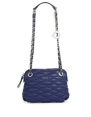 Dkny Quilted Leather Crossbody Bag-IRIS-One Size