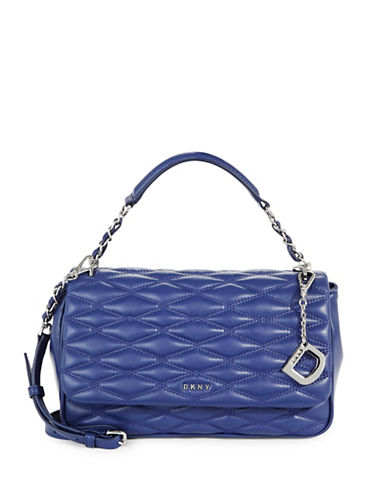 Dkny Quilted Leather Shoulder Bag-IRIS-One Size