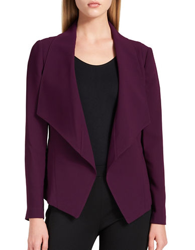 Dkny Open Front Blazer-PURPLE-Small