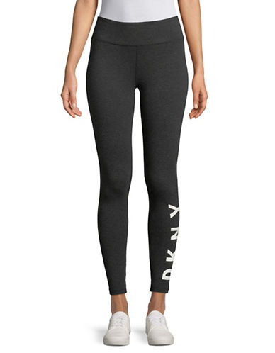 Dkny Fleece Logo Leggings-GREY-Medium 89678423_GREY_Medium