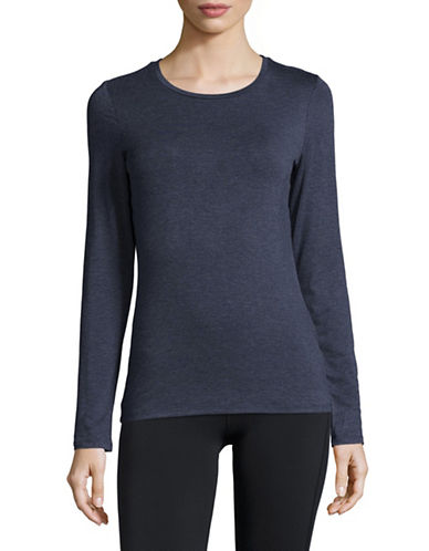 Dkny Long-Sleeve Crew Neck Tee-NAVY1-Large