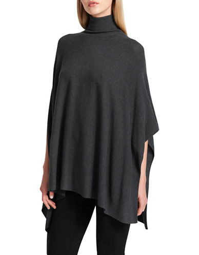 Dkny Turtleneck Poncho-GREY-X-Small