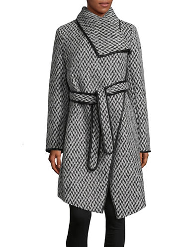Dkny Twill Knee-Length Coat-PRINT-Small