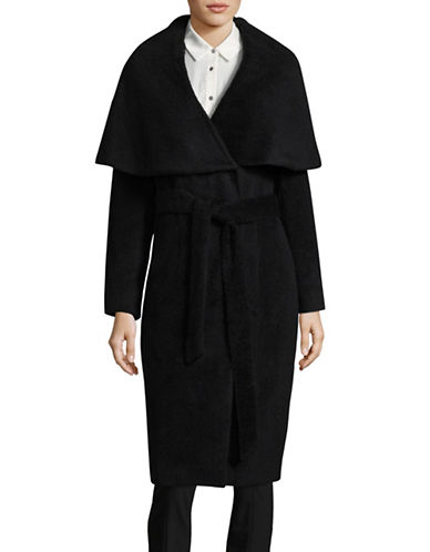 Dkny Classic Wrap Coat-BLACK-4