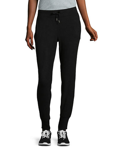 Dkny Fitted Jogger Pants-BLACK-Small