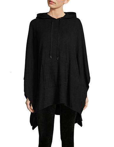 Dkny Hooded Cape-BLACK-Small/Medium