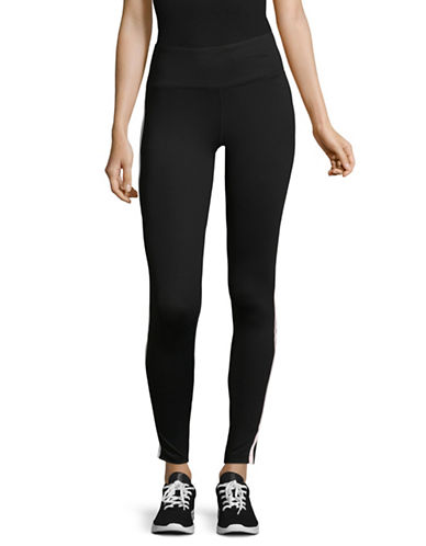 Dkny Reflective Tape High-Waist Leggings-BLACK-Small
