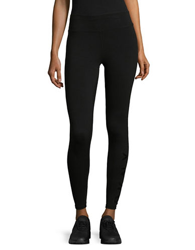 Dkny Fleece Logo Leggings-BLACK-X-Large