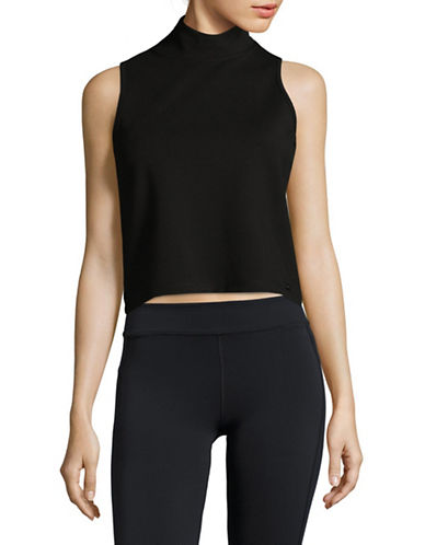 Dkny Mockneck Sleeveless Top-BLACK-Large