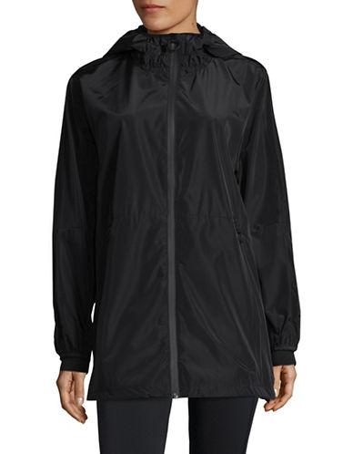 Dkny Hooded Windbreaker Jacket-BLACK-X-Large