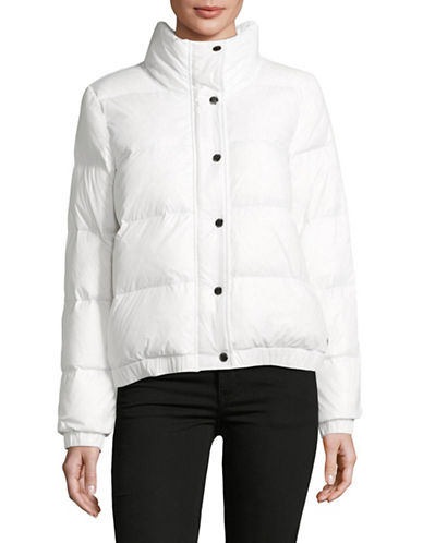 Dkny Funnel Neck Down Jacket-WHITE-Medium