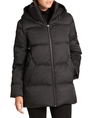 Dkny Down Puffer Hooded Jacket-BLACK-X-Small