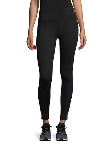 Dkny Reflective Tape High-Waist Leggings-BLUE-Medium