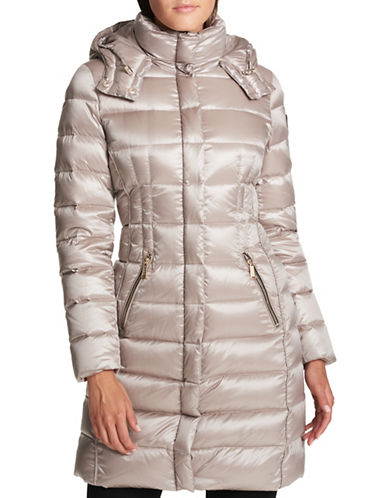 Dkny Down-Filled Puffer Coat-THISTLE-Medium