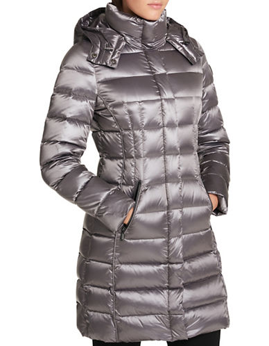 Dkny Down-Filled Puffer Coat-CHARCOAL-Medium