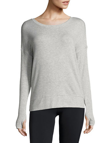 Dkny Keyhole Pullover Top-SILVER-X-Large