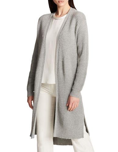 Dkny Wool-Cashmere-Blend Cardigan-GREY-Large/X-Large