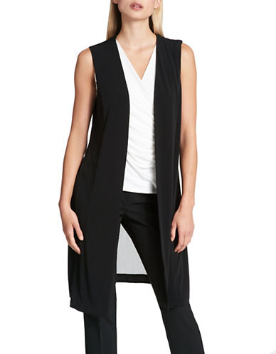 Dkny Long Sheer-Back Vest-BLACK-X-Large