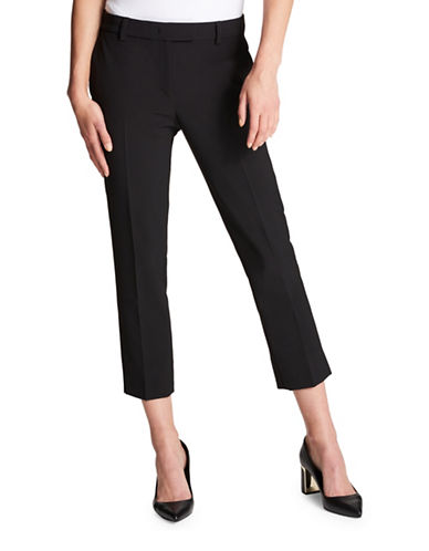 Dkny Casual Cropped Pants-BLACK-8