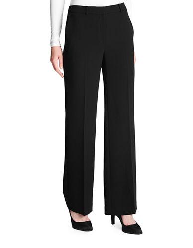 Dkny Classic Wide Leg Pants-BLACK-14