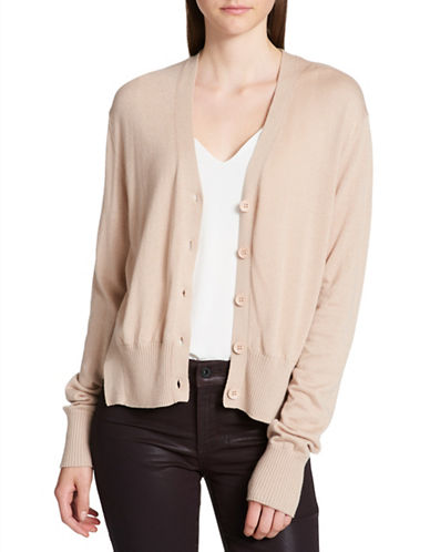 Dkny Buttoned Cardigan-BEIGE-Large