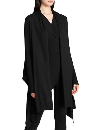 Dkny Long-Sleeve Cozy Cardigan-BLACK-X-Small/Small