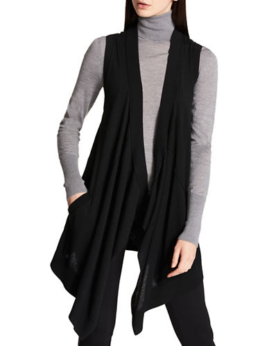Dkny Waterfall Sleeveless Cardigan-BLACK-X-Small/Small