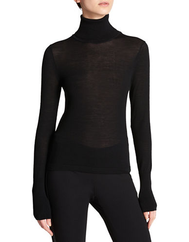 Dkny Wool Turtleneck Top-BLACK-Small