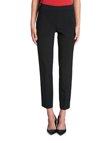 Dkny Cropped Straight-Leg Pant-BLACK-4