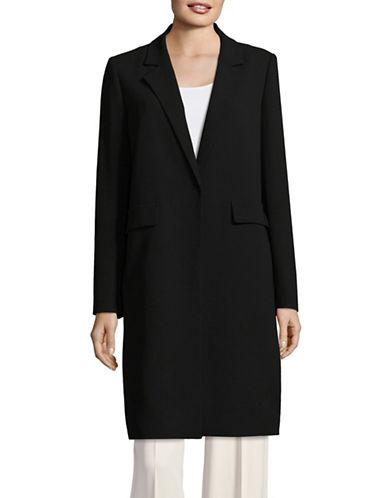 Dkny Ribbed Zip-Front Combo Sweater-BLACK-X-Small 89598697_BLACK_X-Small
