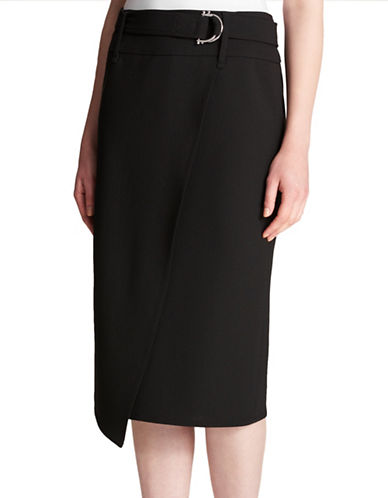 Dkny D-Ring Pencil Skirt-BLACK-8
