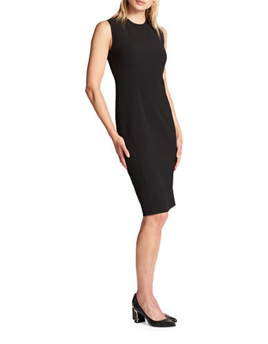 Dkny Sleeveless Mid-Length Sheath Dress-BLACK-4