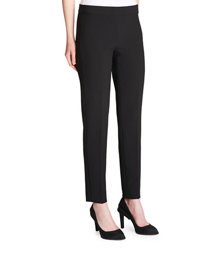 Dkny Straight Side-Zip Pants-BLACK-10
