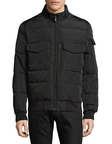 Dkny Quilted Bomber Jacket-BLACK-Large