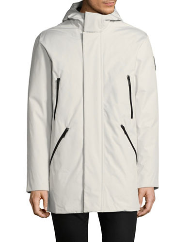 Dkny Contrast Taping Parka-WHITE-XX-Large