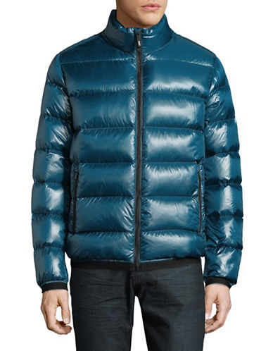 Dkny Quilted Down Puffer jacket-TEAL-Medium