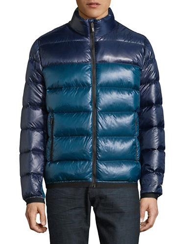 Dkny Quilted Down Puffer jacket-NAVY-Medium