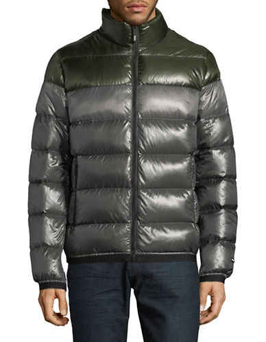Dkny Quilted Down Puffer jacket-GREEN-Medium