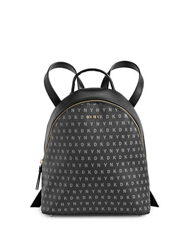 Dkny Logo Print Backpack-BLACK-One Size