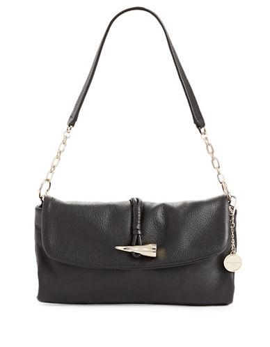 Donna Karan Medium Leather Hobo Bag-BLACK-One Size