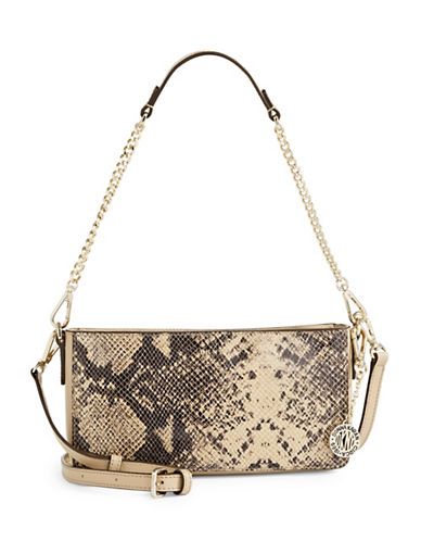 Dkny Snake-Embossed Leather Crossbody Bag-MULTI-One Size