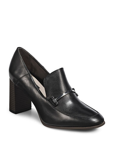 Dkny Classic Block-Heel Loafers-BLACK-9