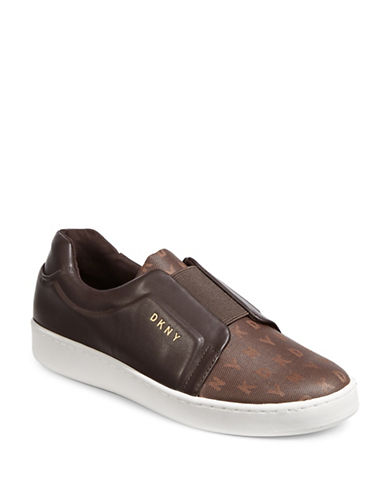 Dkny Logo Sneakers-BROWN-9.5